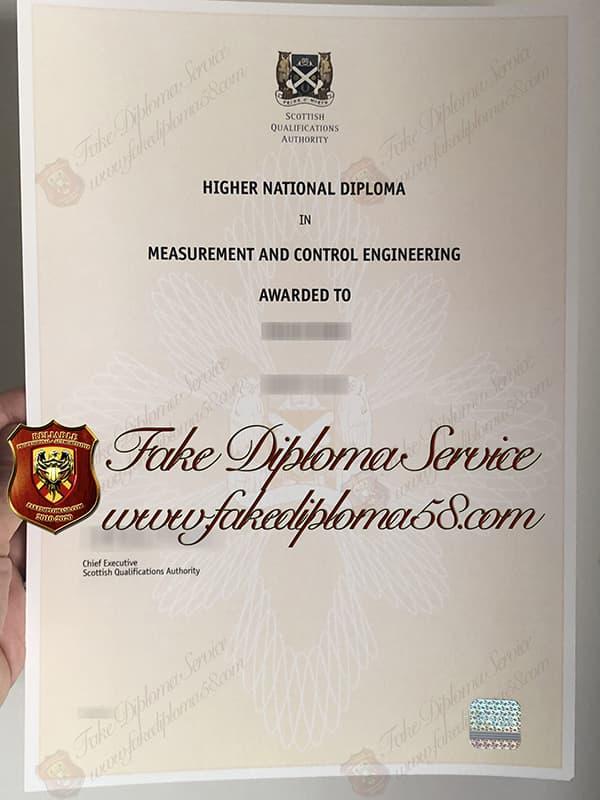 fake SQA certificate, Scottish Qualifications Authority fake certificate