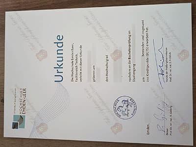 Buy A Hochschule Emden/Leer Diploma Certificate Online