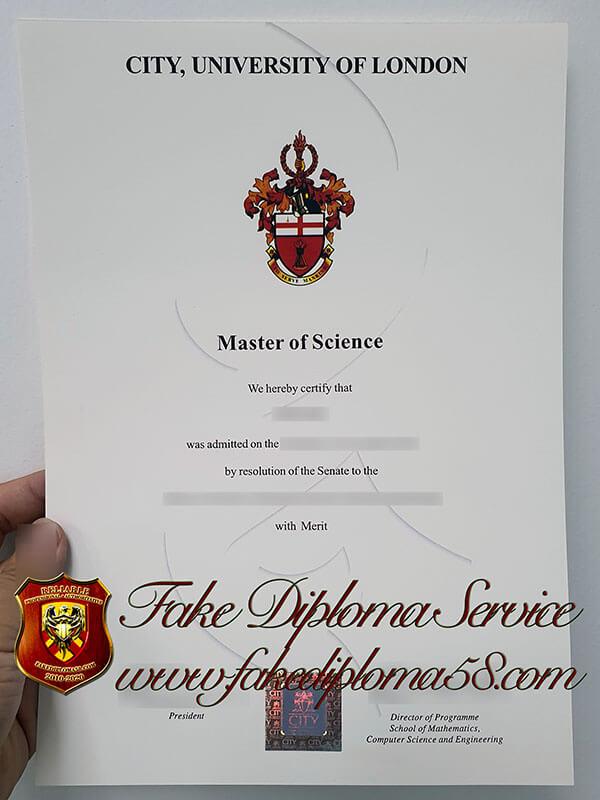 The City University of London degree diploma