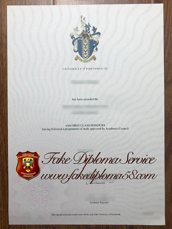 fake University of Portsmouth degree,fake University of Portsmouth diploma