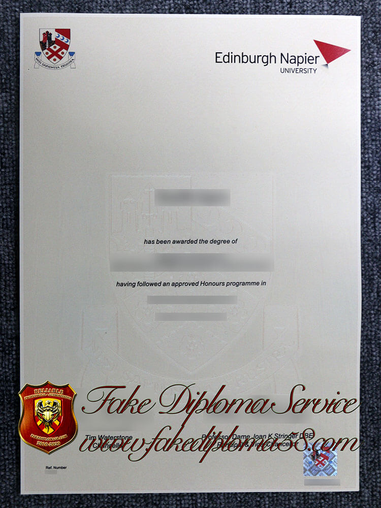 fake Edinburgh Napier University degree, fake Edinburgh Napier University diploma