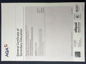 AQA GCSE Fake Certificate
