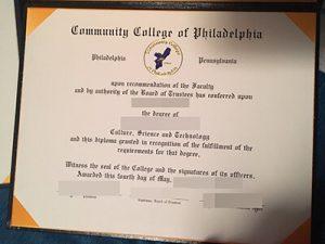 Community College of Philadelphia fake diploma