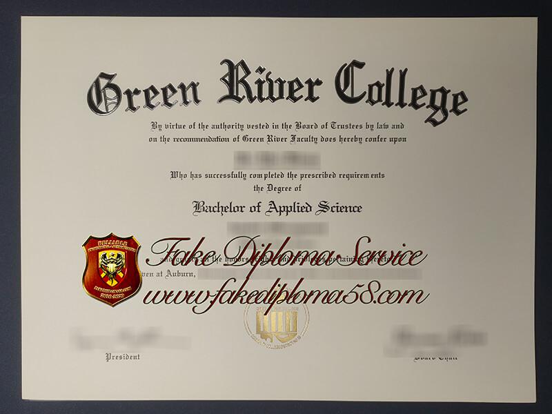 Green River College fake diploma