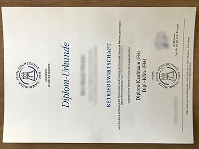 Buy Hamburger Fern Hochschule Diploma, HFH diplom