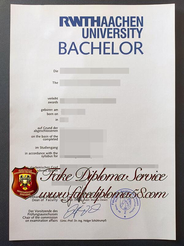 RWTH Aachen University fake diploma