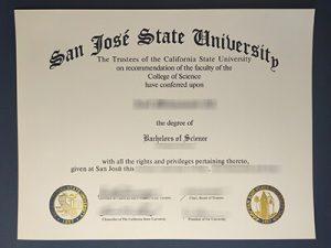 SJSU diploma, fake San Jose State University diploma