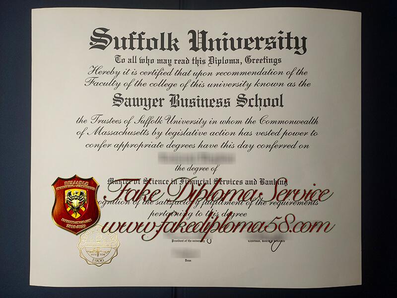 Suffolk University fake diploma, Suffolk University fake degree
