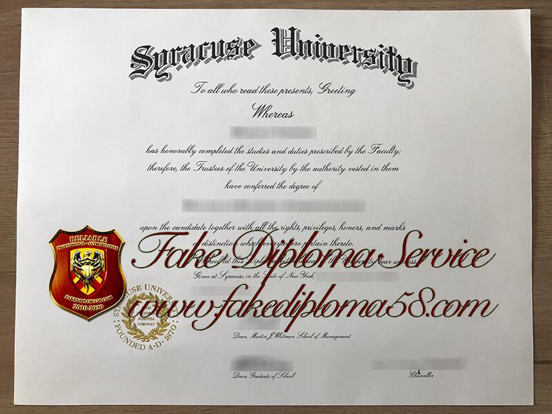 Syracuse University fake diploma
