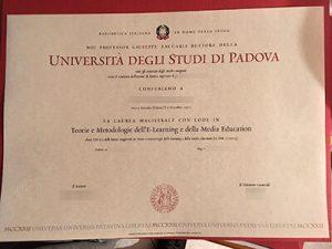 Get Università degli Studi di Padova fake diploma