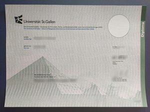 Universität St Gallen diplom, University of St. Gallen diploma