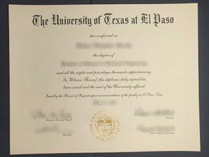 fake University of Texas at El Paso diploma, fake UTEP diploma