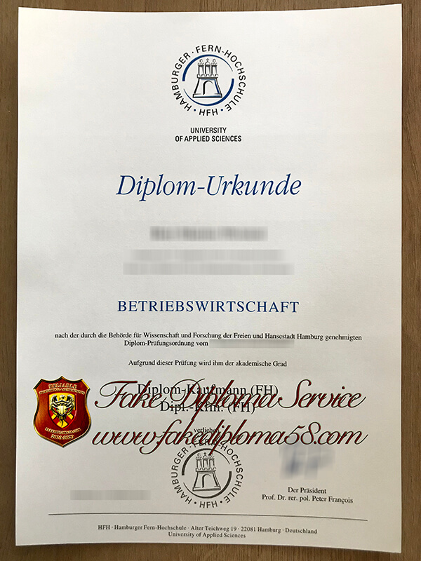 fake Hamburger Fern Hochschule diploma