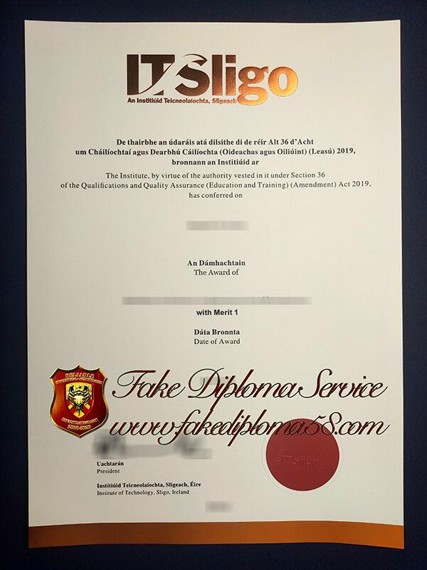 fake Institiúid Teicneolaíochta, Sligeach diploma