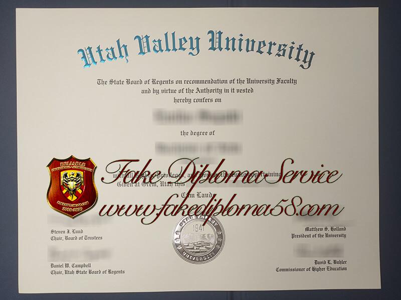 fake Utah Valley University diploma