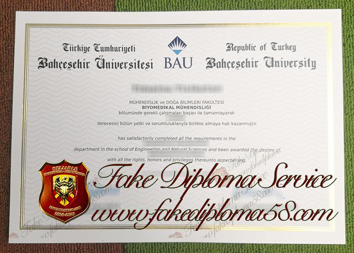 Degree of Bahcesehir University(BAU)