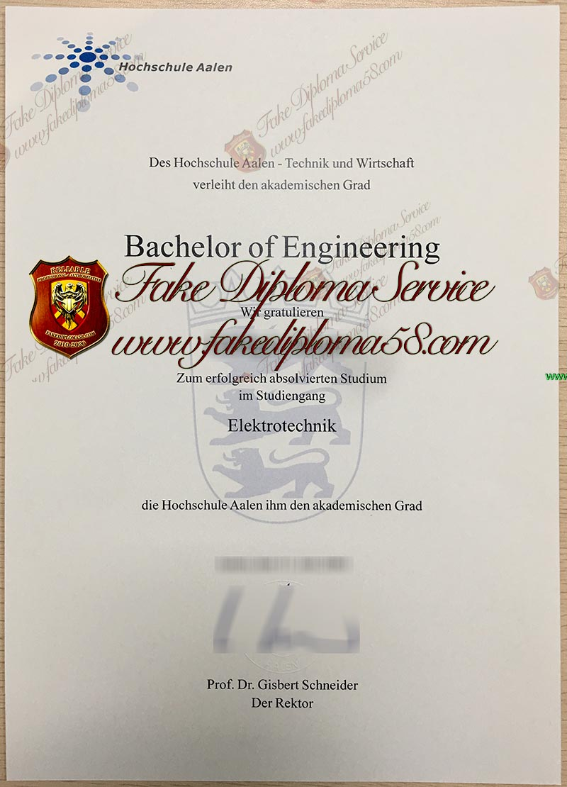 Aalen University diploma