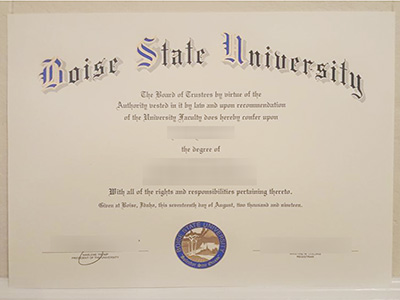 Purchase a phony Boise State University degree quickly online