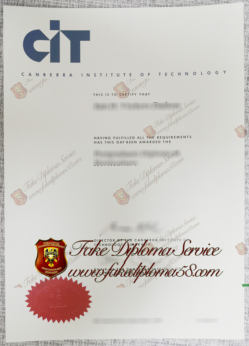 Canberra Institute of Technology diploma