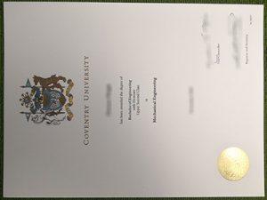 Coventry University diploma