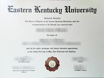 Eastern Kentucky University diploma