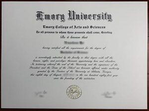 Emory University degree