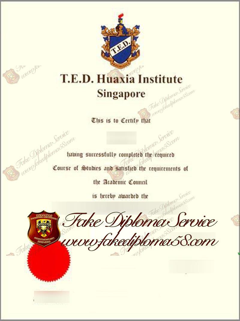 Huaxia Institute Singapore diploma