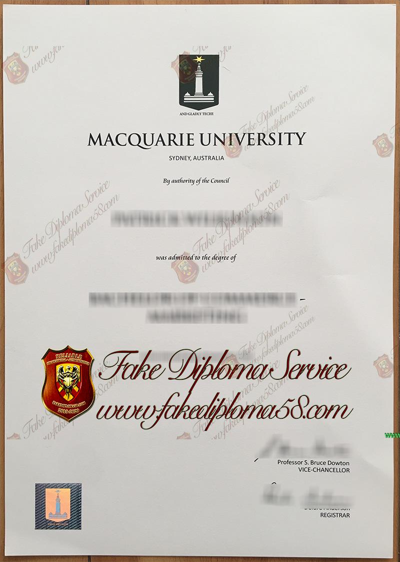 Macquarie University diploma
