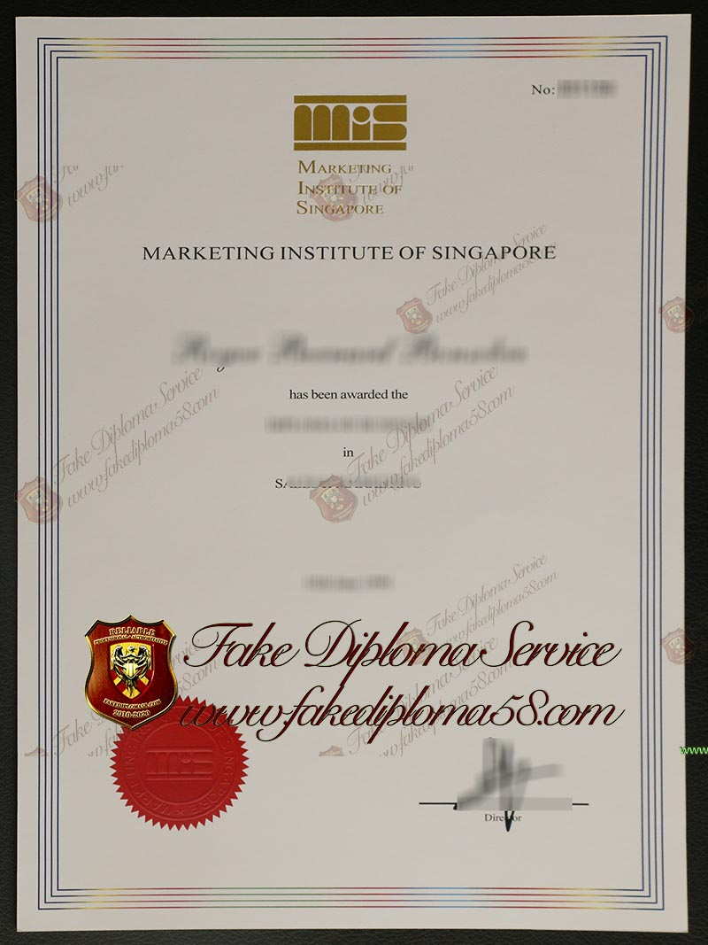 Marketing Institute of Singapore degree