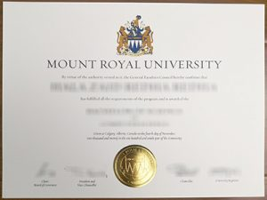 Mount Royal University degree