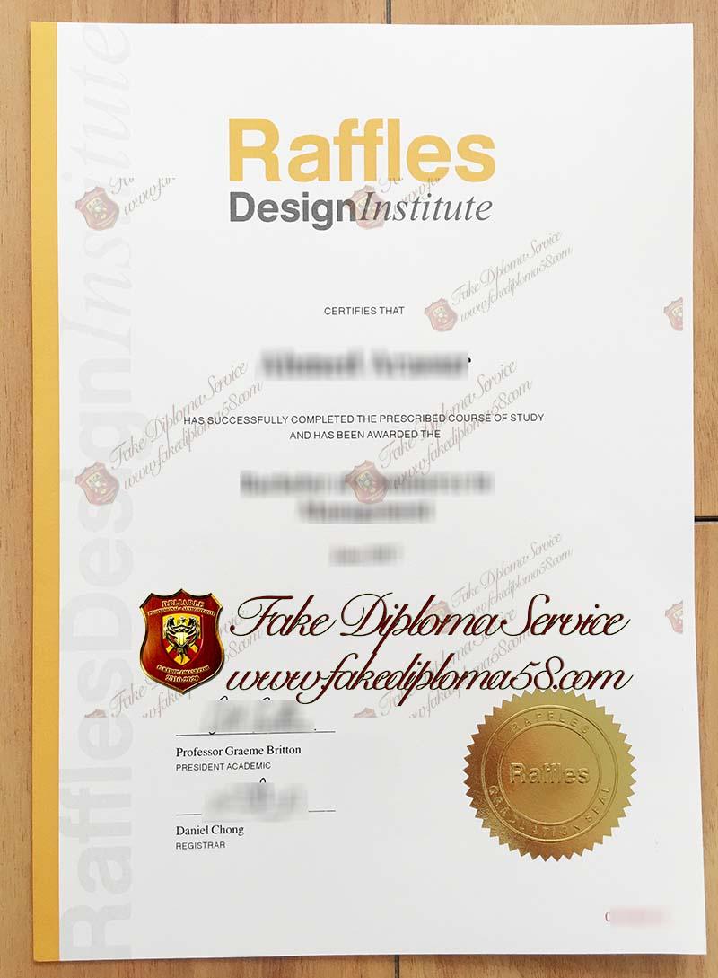 Raffles Design Institute diploma