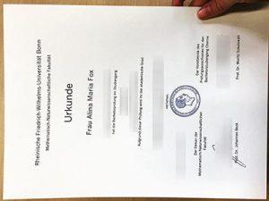 Rheinische Friedrich-Wilhelms-Universität Bonn diploma