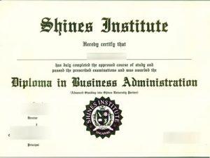 Shines Institute degree