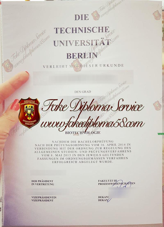 Technische Universitat Berlin diploma