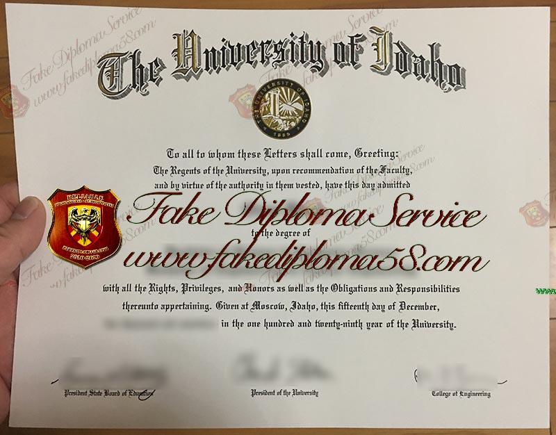 University of Idaho diploma