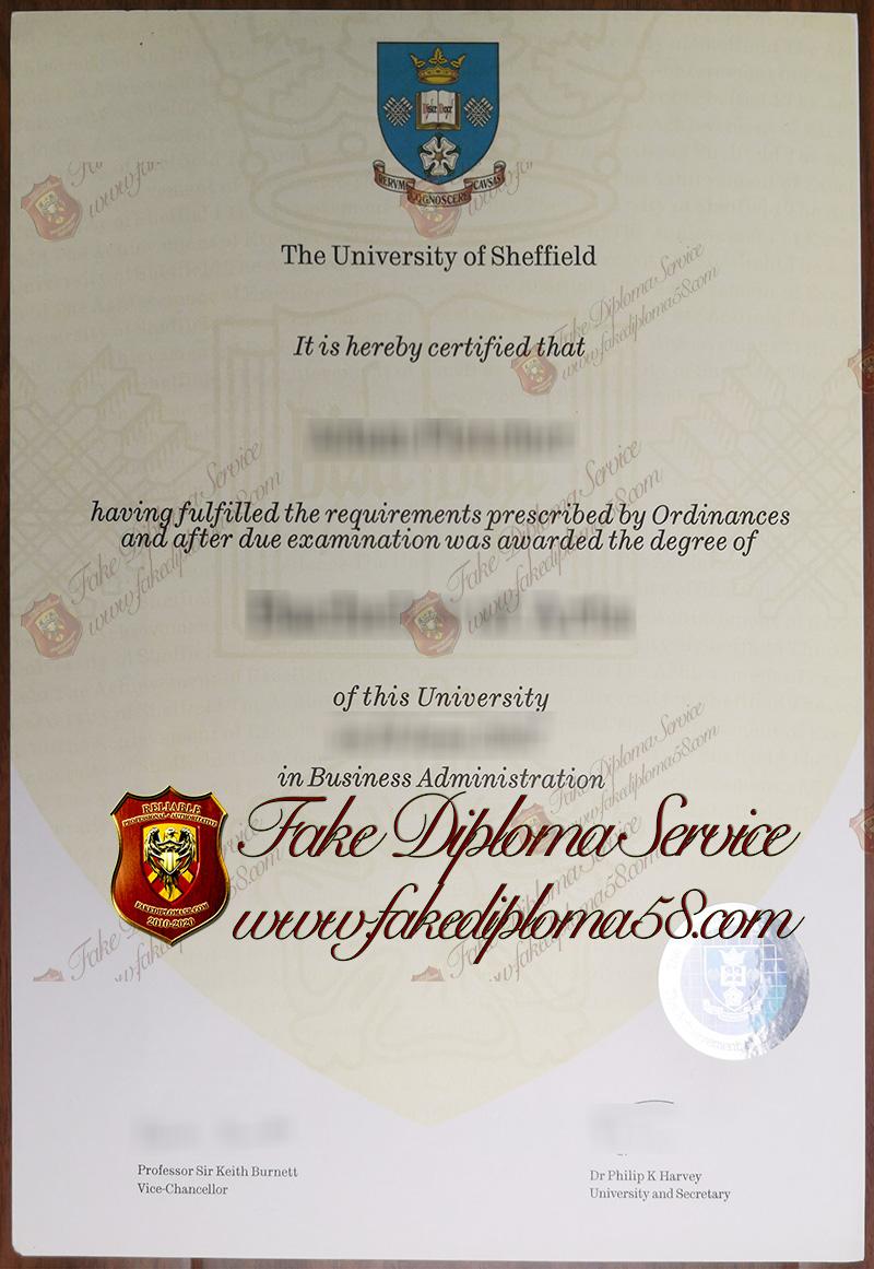 The University of Sheffield diploma