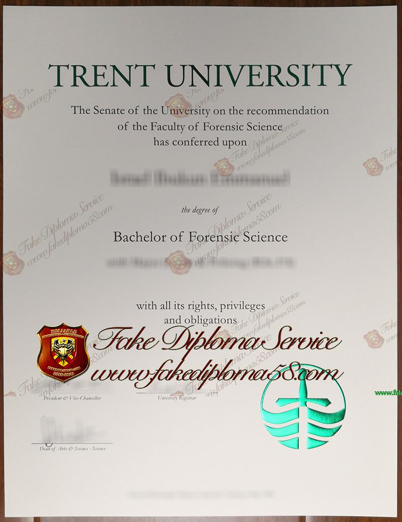 Trent University diploma