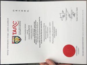 Tunku Abdul Rahman University College diploma