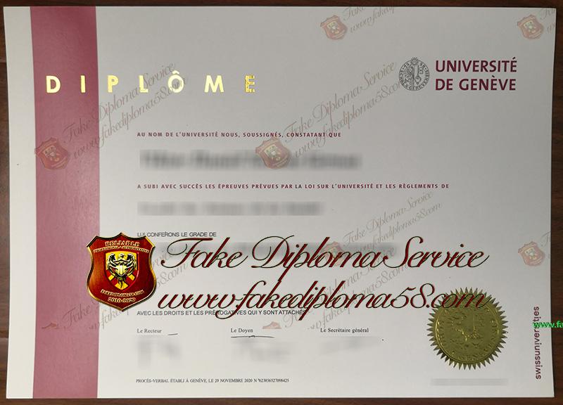 Universite DEGENEVE diploma