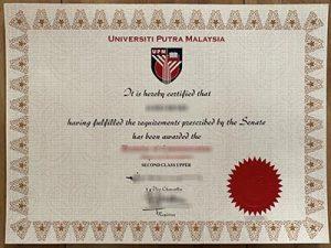 Universiti Putra Malaysia degree