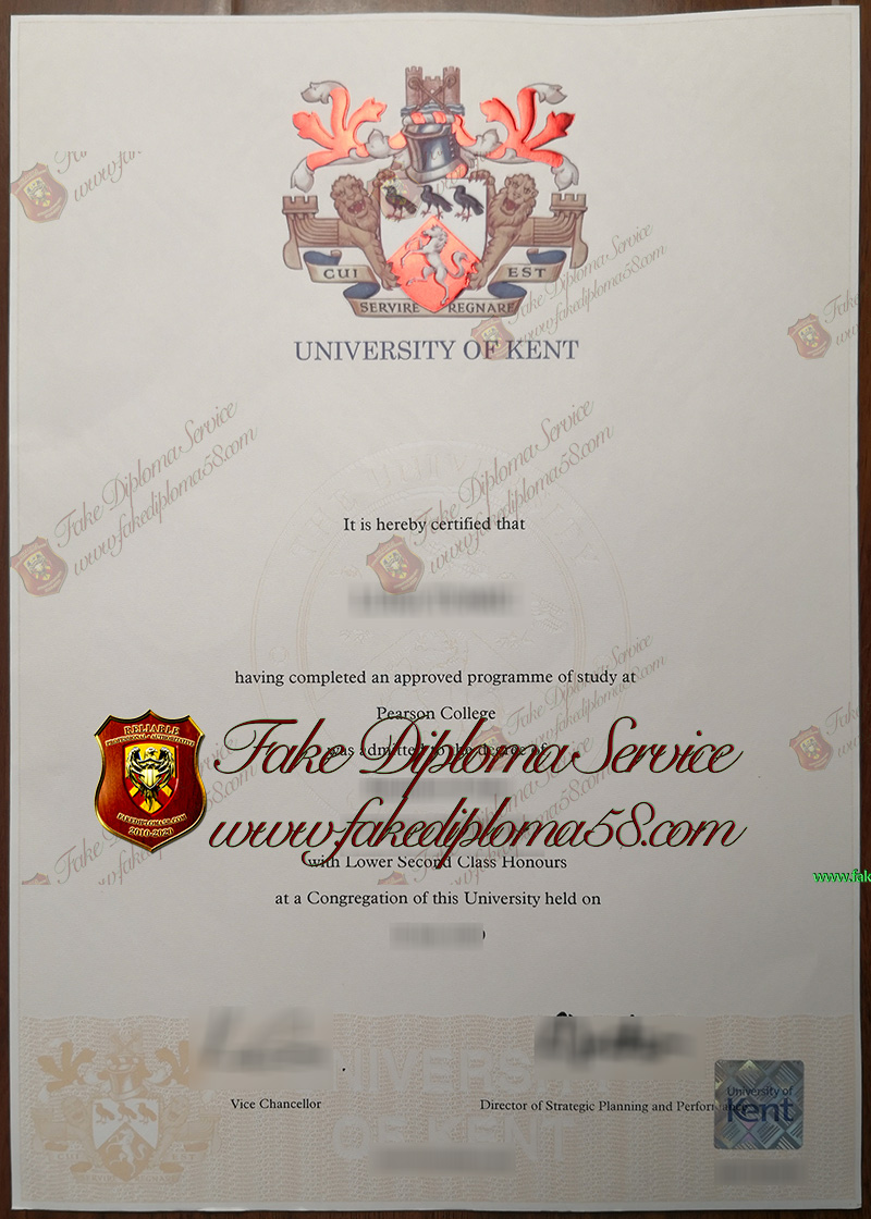 University of KENT diploma