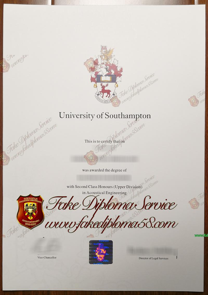 University of Southampton diploma