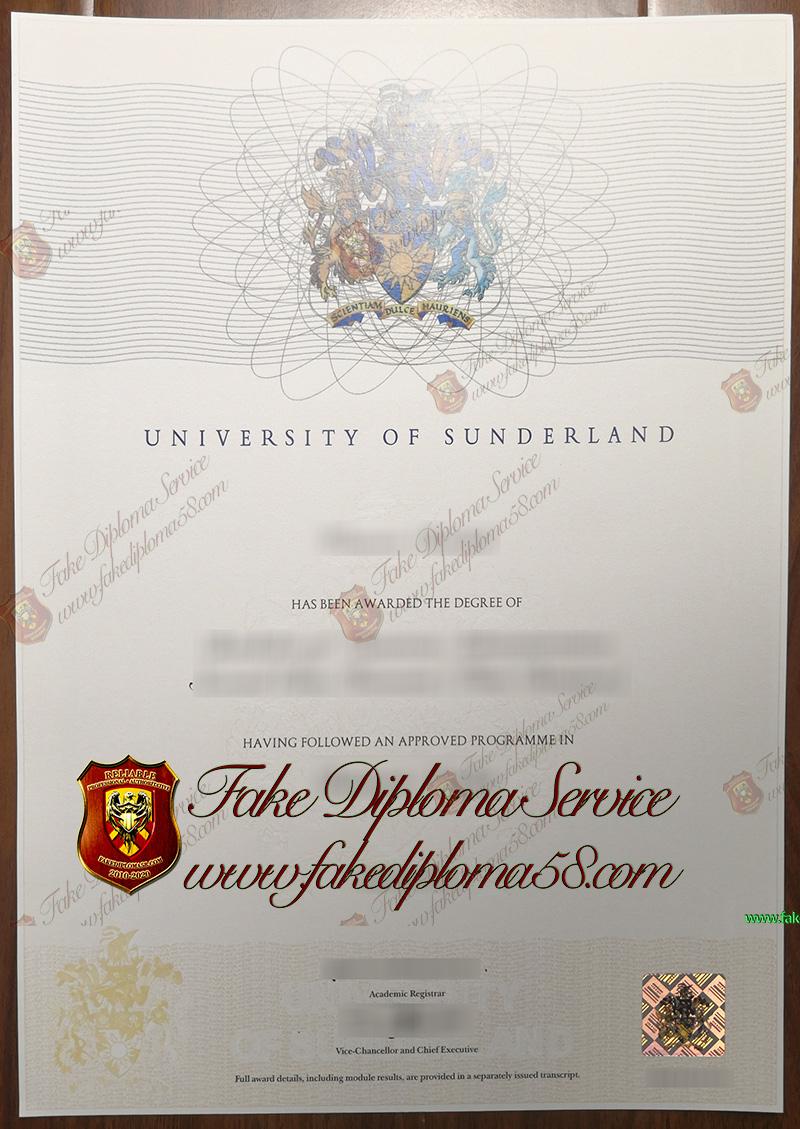 university of sunderland degree