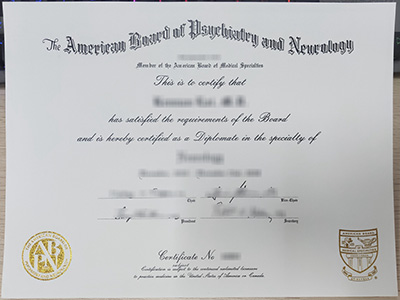 How much does a fake ABPN certificate?