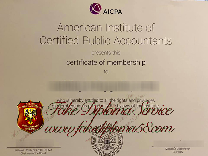 AICPA certificate