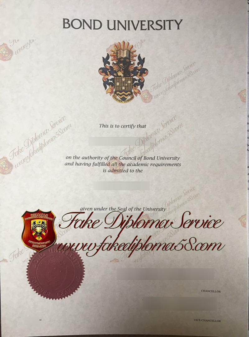 Bond University diploma