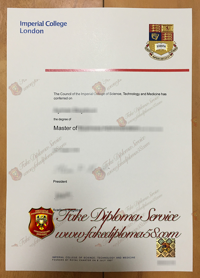 Imperial colledge london diploma