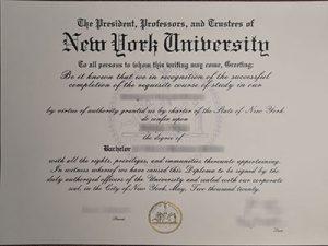 New Youk University degree