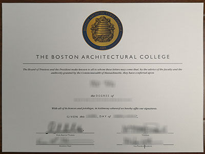 How much does a fake The Boston Architectural College degree cost?