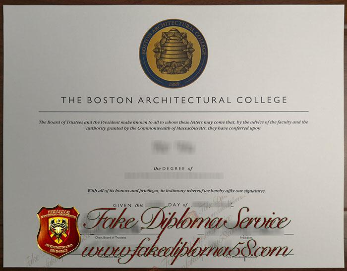 The Boston Architectural College diploma